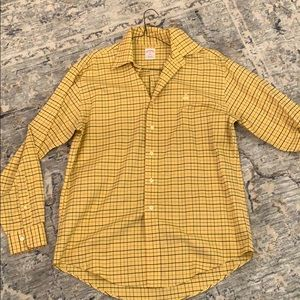NWOT Brooks Brothers yellow check button down